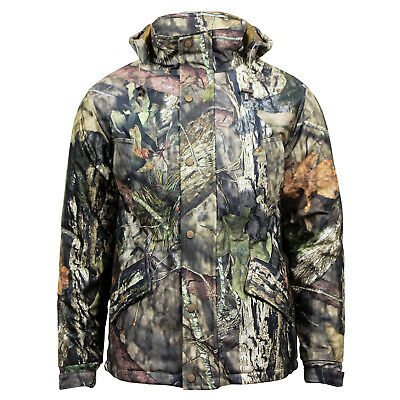 Men's Mossy Oak Camouflage Hunting Hiking Fishing Hooded Outdoor Activity Jacket • 18.99£
