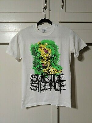 £18.16 • Buy Vtg 00s SUICIDE SILENCE Logo Metalcore Band T Shirt Size Small S