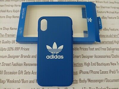 AU39.65 • Buy ADIDAS Apple IPhone X / Xs Hard Case Blue Moulded Slip-on Back Cover BNIP