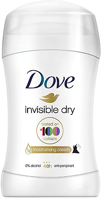 Dove Invisible Dry Deodorant Stick, Roll On Deodorant For Men And Women For A 48 • 2.71£