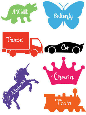 £1.95 • Buy Picture Vinyl Name Stickers Labels For Bottle Cup Tubs Organise Personalise Kids