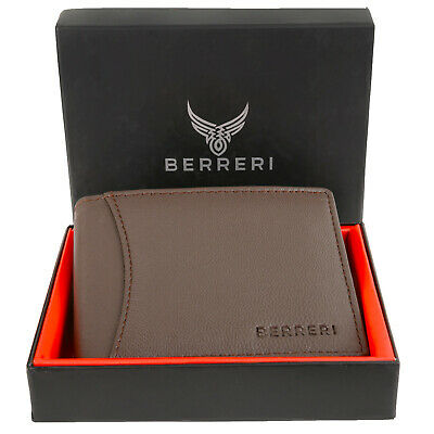 £8.95 • Buy Boxed Mens Leather Wallet RFID Safe Quality Credit Card Holder Purse Brown Gift