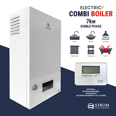 Strom Electric Combi Boiler 7kw 1-phase Ref: Sbsp7c + Optional Rf Thermostat • 926.95£
