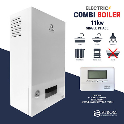 Strom Electric Combi Boiler 11kw 1-phase Ref: Sbsp11c + Optional Rf Thermostat • 996.95£