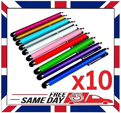 10 X QUALITY STYLUS PENS For IPAD SAMSUNG TABLET IPHONE MOBILE HUAWEI XIAOMI HTC • 3.88£