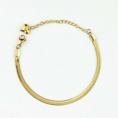 Rose Gold/Gold Plated Flat Snake Chain Necklaces/Bracelets - Her Gifts • 4.50£