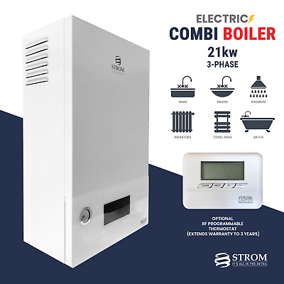 Strom Electric Combi Boiler 21kw 3-phase Ref: Sbtp21c + Optional Rf Thermostat • 1,106.95£