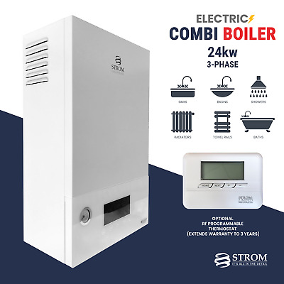 Strom Electric Combi Boiler 24kw 3-phase Ref: Sbtp24c + Optional Rf Thermostat • 1,146.95£