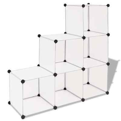 AU62.95 • Buy Cube Storage Organiser Shoe Rack Bookcase 6 Open Compartment Display Cabinet