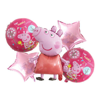 5pcs PEPPA PIG George Foil Balloons Birthday Party Decoration Air Helium Fill • 4.59£