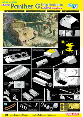 Dragon 1/35 Pz.Kpfw.V Panther Ausf.G Early Production # 6267 - Plastic Model Kit • 54.99£