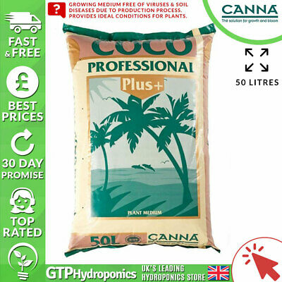 Canna Coco Professional Plus 50 Litre - Hydroponic Growing Potting Garden Media • 17.99£