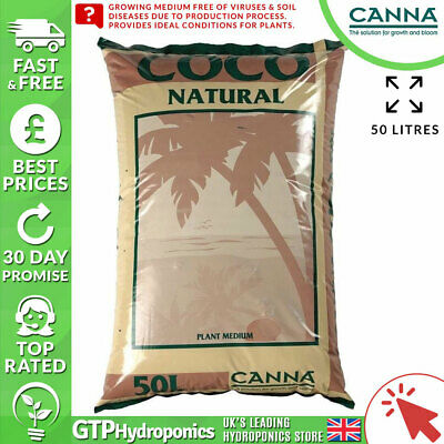 £18.99 • Buy Canna Coco Natural 50L - Coir Hydroponic Growing Potting Garden Media 50 Litre