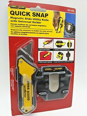 $10.79 • Buy MagNoGrip Quick Snap Magnetic Utility Knife With Universal Holder - 002-528 NEW