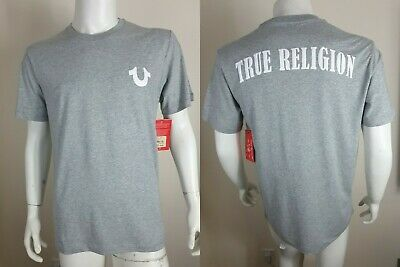 New True Religion Men's Crew Neck Short Sleeve T-shirt Horseshoe Logo Size M • 29.99£