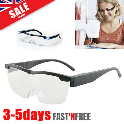 180% LED Magnifying Glasses Loupes Magnifier Glasses With Led Lighting Lamp HOT! • 7.88£