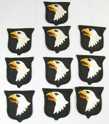 $19.99 • Buy Lot Of 10 New Military US Army 101 Airborne Eagle Shoulder Patches Dtd 81 5C2