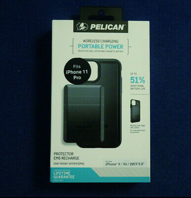 AU69.90 • Buy Pelican Protector Case + EMS Recharge Battery Pack For IPhone 11 Pro (fits X/Xs)