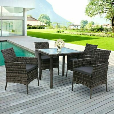 AU503 • Buy Outdoor Dining Set Patio Furniture Wicker Garden Setting Table Chair 5PCS AU