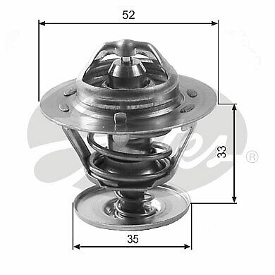 Th12588g1 Gates Thermostat Ford Transit Connect - 1.8 - 02-13 • 9.89£