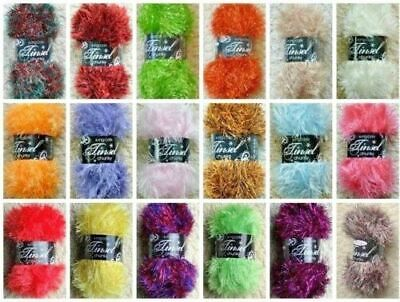 King Cole Tinsel Chunky Wool Yarn Knitting 50gm ALL SHADES (NOT VACUUM PACKED) • 2.49£