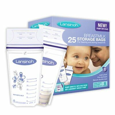 Lansinoh Breast Milk Storage Bags Breastmilk Pouches (25 Piece Pack) • 6.83£