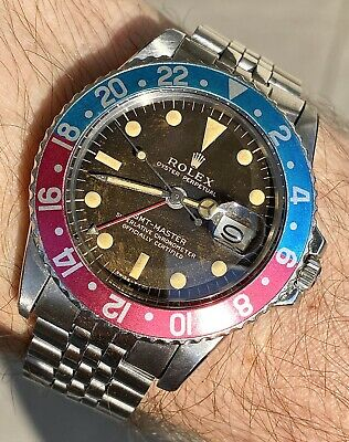 $ CDN52856.71 • Buy Very Rare Rolex 1675 GMT Master Brown Gilt Dial With Fuchsia Bezel From 1964