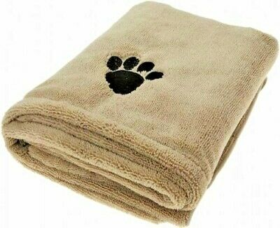 £5.49 • Buy Large 110x61 Microfiber Super Absorbent Pet Towel Dog Cat Puppy Cleaning Drying