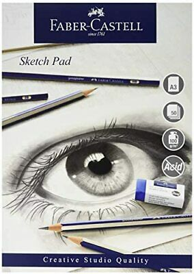 Faber-Castell Creative Studio Sketch Pad, A3 100 GSM Pad Of 50 Sheets • 12.69£