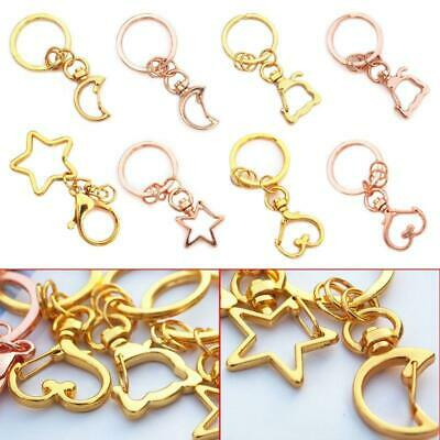 5pcs Key Chains Jewelry Making DIY Parts Bag Charms Car Keyring Keychain Pendant • 2.88£