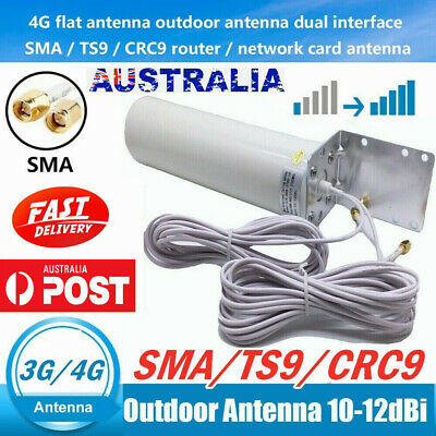 AU34.65 • Buy Dual SMA Male 3G 4G LTE Signal Booster Antenna Fixed Bracket Wall Mount Outdoor
