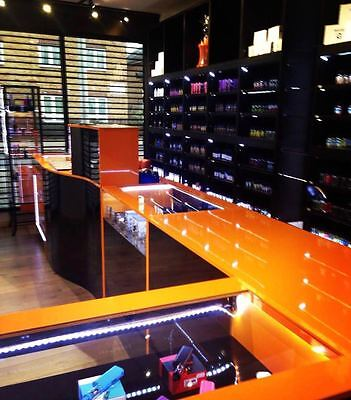 Shop Display Cabinets ,shop Counters,shelving - Black Gloss And Orange  • 3,500£