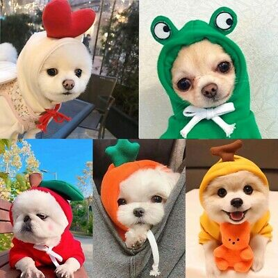 £5.30 • Buy Chihuahua Puppy Sweater Coat Clothes Small Pet Dog Warm Hoodie Clothing Apparel