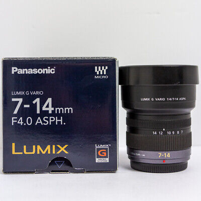 £579 • Buy Panasonic Lumix 7-14mm F/4 Vario G Asph Wide Angle Zoom Lens Micro 4/3 Fit Boxed