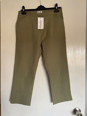 'Emelia' Khaki Superstretch Crop Trousers. Brand New With Tags. Size M • 3.50£