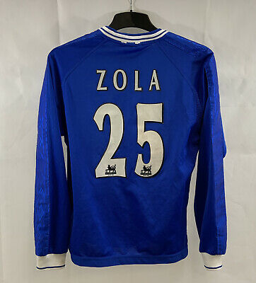 £119.99 • Buy Chelsea Zola 25 L/S Home Football Shirt 1999/01 Adults Small Umbro C289