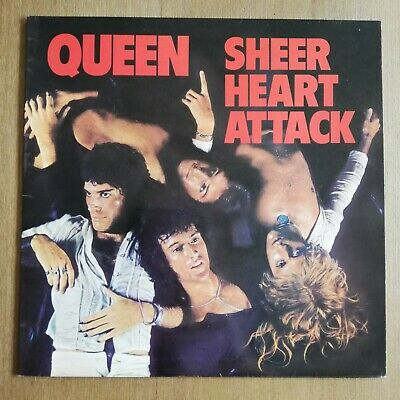 * QUEEN - SHEER HEART ATTACK - 1st Press 1974 UK LP EX * • 29.99£
