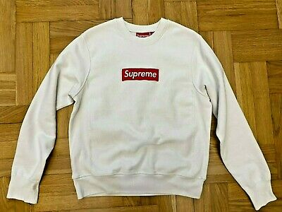 $ CDN467.80 • Buy SUPREME Auth Box Logo Crewneck White  Sz: S SMALL