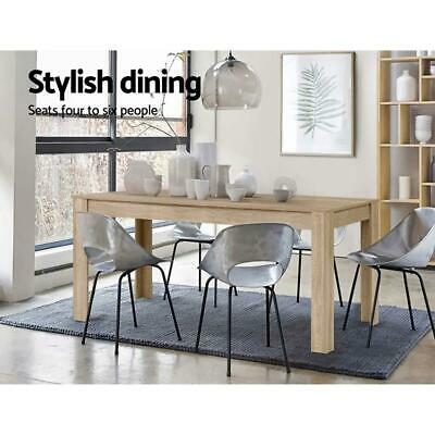 AU227.97 • Buy Artiss Dining Table 6-8 Seater Wooden Kitchen Tables Oak 160cm Cafe Restaurant
