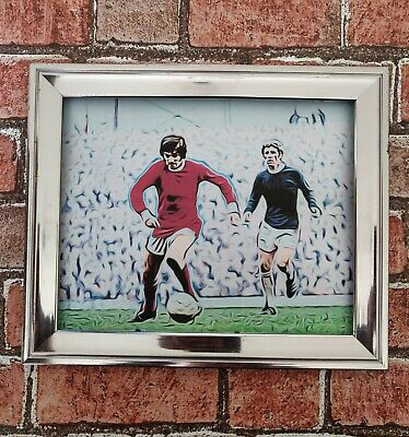 Manchester United George Best Pop Art Tribute Footbal Picture Print • 3.49£
