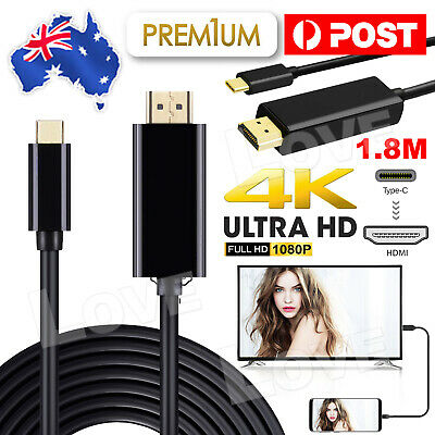AU10.95 • Buy USB C To HDMI Cable USB 3.1 Type C Male To HDMI UHD 4K 1.8m Cable