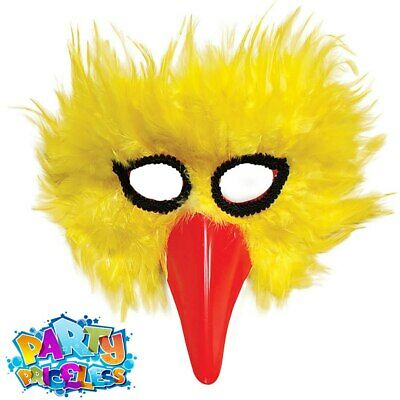 Bird Feather Mask Animal Adults Chick Masquerade Fancy Dress Costume Accessory • 5.59£