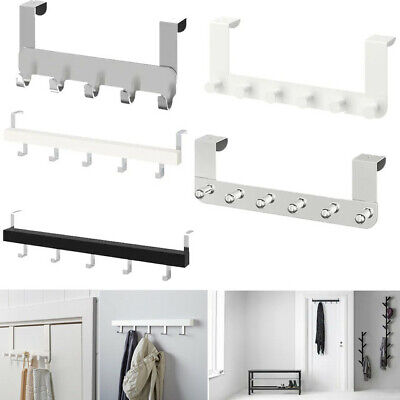 Ikea Wall Over Door Hooks Knobs Clothes Bags Coats Towels Hanger For Bathroom • 11.99£