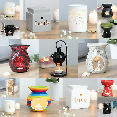 Oil Burner Wax Warmer Various Ceramic Designs Scent Oil Wax Melts Fragrance Gift • 9.85£