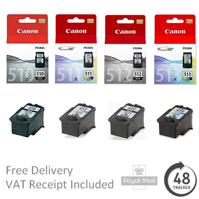 Genuine Canon PG-510 CL-511 PG-512 CL-513 Ink Cartridges For Pixma Printers • 15.95£