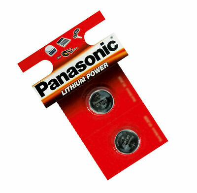 Pack Of 2 Panasonic CR2032 Coin Cell Battery Car Key Fobs Remote Laptop Camera • 1.49£