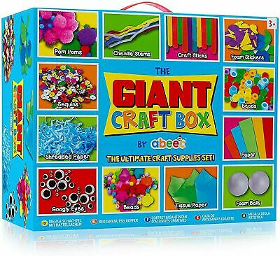 Giant Craft Box Of Arts And Crafts Supplies Creative Games Gift For Boy Girl Kid • 12.43£