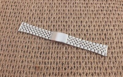 Stainless Steel Jubilee Folded Link Watch Strap 20mm Straight Ends • 9.99£