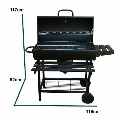 Classic Barrel Bbq Smoker Garden Outdoor Barbecue Dented Lid But Good Condition • 109.99£