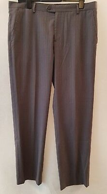 Stefano Conti Grey Pin Stripe Suit Trousers Size 38 R • 11.99£